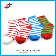 Winter ladies's terry socks/microfiber cozy crew happy socks thick shoe sock