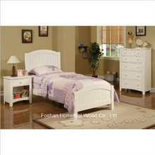 3 Piece Kids Twin Size Bedroom Set in White Finish