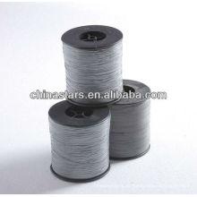 Gran visibilidad gris color 100% poliéster Reflective Yarn