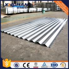 Tôle d'acier ondulée galvanisée enduite de zinc
