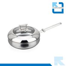 2016 New Design 304 18/8 Stainless Steel Fry Pot Pan Cookware