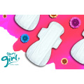 Eco friendly cotton sanitary napkins with spunlace cover