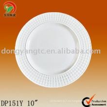 Plato de cerámica de 10 pulgadas