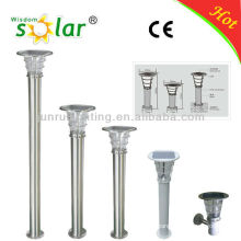 Eco-friendly stainless steel 4W led solar panel solar powered light fixture