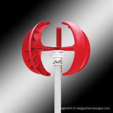 Éolienne à axe vertical de type lanterne rouge