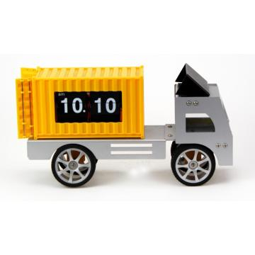 Car Container Flip Desk Clock