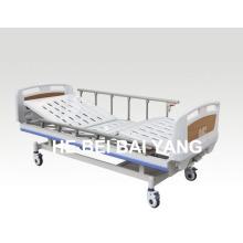 (A-60) - Cama de hospital manual de duas funções com cabeça de cama ABS
