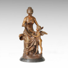 Classical Statue Love Education Bronze Sculpture TPE-227