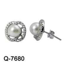 Joyería de moda 925 Sterling Silver Earring Rhodium Plaling
