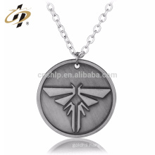 New Products Custom Logo Antique Silver Choker Firefly Beads Metal Necklace