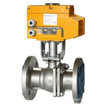GB Conexão de flange padrão - Válvula de esfera elétrica de alta temperatura