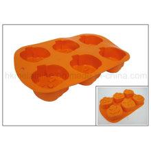 Moule en forme de gâteau de silicone en forme de citrouille (RS06)