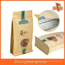 Melhor qualidade marrom papel artesanal papel quadrado inferior saco de papel