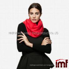 Moda nova senhora lã vermelha lã lenço