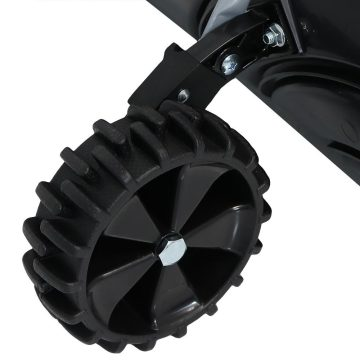 Heavy Duty Rolling Snow Pusher with Adjustable Handle
