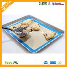 China fabricante profesional FDA Grado de Alimentos Lavaplatos Seguro Fibra de vidrio Non Stick Mat Baking