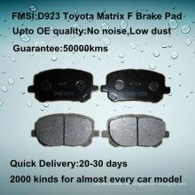 OE Qualität Toyota Matrix Auto Scheibenbremsbelag D923