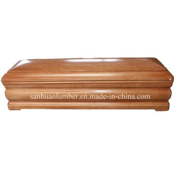 Beerdigung-Produkt / hölzernen Särge & Sarg / neue Modell Euro-Stil Holzsarg