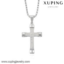 32731 Mode Cool Argent-plaqué Bijoux en acier inoxydable chaîne pendentif croix