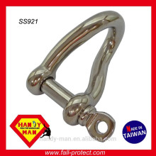 Aço inoxidável 316 Screw Pin Twisted Shackle