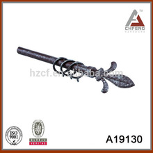 A19130 electric plated decorating curtain rods accessories,double single curtain rod set,metal curtain rod finial