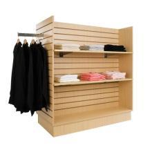 4 Way Slatwall Clothing Display Shelving Stand