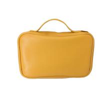 Luxury Plain Leather Handbag Genuine Leather Storage Organizer Leather jewelry Bag