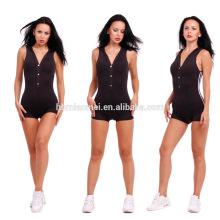 New Fshion deep V neck black lace jumpsuits for women 2017