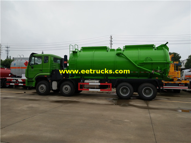 SINOTRUK Dung Suction Tanker Trucks