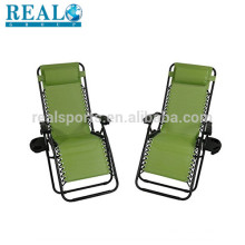 Cadeira confortável de acampamento de gravidade zero da cadeira de acampamento exterior do jardim da sala de estar