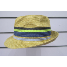 Bunte feine Papiergeflecht Fedora Hüte