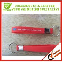 Customized Top Quality Logo Printed Silicone Wristband Keyring
