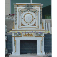 Marble Fireplace with Stone Mantel (QY-LS319)