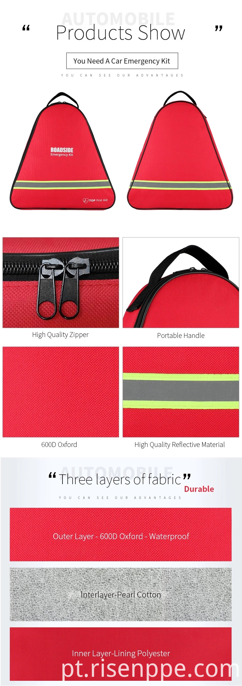 Roadside Assistance Emergency Car Kit First Aid Kit Jumper Cables Tow Strap Led Flash Light Rain Coat Tire Pressure Gauge Safety Vest And More Ideal Winter Accessory For Your Car Truck Or Suv Jpg Webp