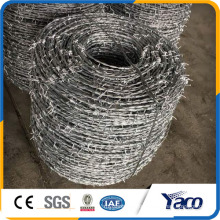 High tensile wire zinc coated 1.58mm 1.7mm 2.0mm barb wire 400m per roll