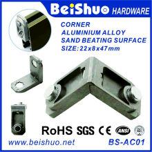 Ensemble d'angle en alliage d'aluminium et porte à angle de 90 degrés
