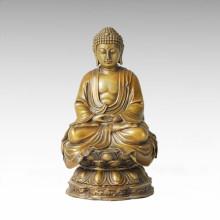 Buddha Bronze Skulptur Shakyamuni / Gautama Dekor Messing Statue Tpfx-B92 / B93