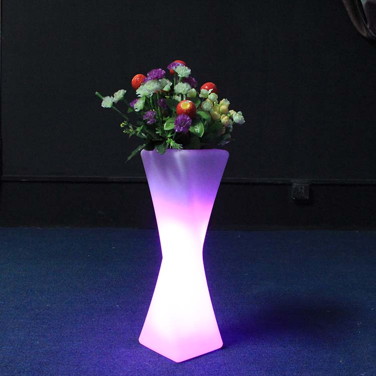 Led Flower Pots Plastic Outdoor