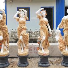 Outdoor decoration carving woman sculpture stone four season god statue