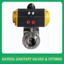 Sanitary Pneumatic Actuator Butterfly Valve Clamp 3A/SMS/ISO