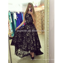 High-Low Evening Dresses Long 2016 Hot Sale Free Shipping Lace Short Frong Long Back Prom Dresses Robe De Soiree