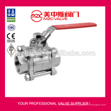 3PC Stainless Steel Ball Valves Threaded Ends 1000WOG Metal Sealing 3PC Ball Valves