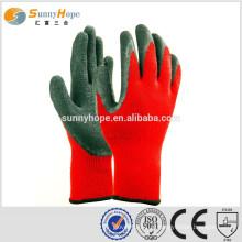 10 Gauge luvas de trabalho industrial de palma vermelha