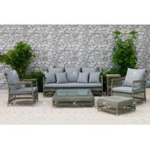 DEVON COLLECTION - Sofá de Rattan de Resina estilo Europa para muebles de sala de estar al aire libre o sala de estar