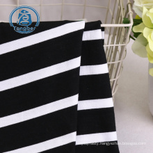 High quality cheap products 95% rayon 5%spandex striped jersey knit rayon fabric
