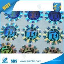 Kundenspezifischer authentischer Sicherheitshologrammaufkleber, wasserdichtes 3d Laser-holographisches Aufkleberdichtung