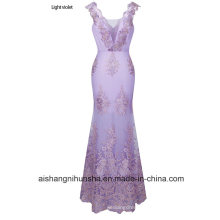 Luxurious Elegant Gown Evening Dress Three-Dimensional Applique Prom Dress