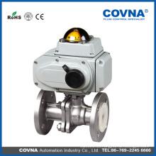 Industrial HVAC acero inoxidable 220v av eléctrico válvula de bola de brida de control