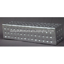 Eventing living room silver ottoman XY0313