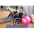Hochwertige Kontrast Farbe Polyester Elestane Yoga Sets